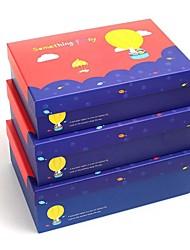 caixa de presente amarela balão de hidrogênio (conjunto de 3)