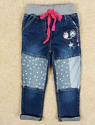 Girl's Cotton Jeans , Winter/Spring/Fall