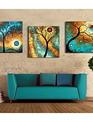 Personalized Canvas Print Abstract Tree 30x30cm  40x40cm  60x60cm  Gallery Wrapped Art Set of 3