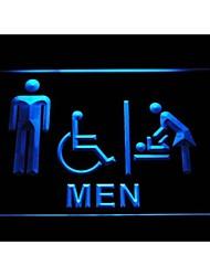 vestiário i1030 homens bebê com deficientes sinal de néon WC acessível