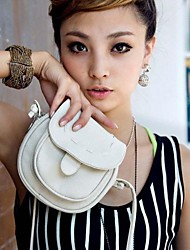 Women's PU Leather Messenger Crossbody  Drawstring Shoulder Bag