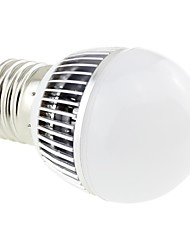 E27 3W LED 6x5730 SMD 260LM 6000K White Light Globe Bulb Lamp with Aluminum Fin Heat Sink (AC 85~265V)