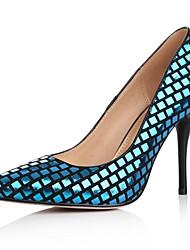 sapatos femininos bombas apontou toe stiletto pele de carneiro calcanhar sapatos mais cores disponíveis