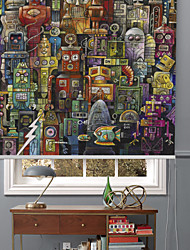 Inspiration Fantastic Cartoon Robbot Roller Shade