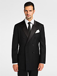 Black 100% Wool Tailored Fit Jacket