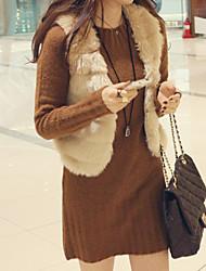 XT Short Fur Waistcoat_54 (Black,White,Cream)