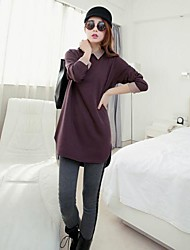 Women's Plus Size Simple Loose Polo Collar Long Sleeve T Shirt