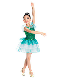 Kids' Dancewear Tutu Ballet Beautiful Sequin & Organza Ruffle Décor Ballet Dance Dress Kids Dance Costumes