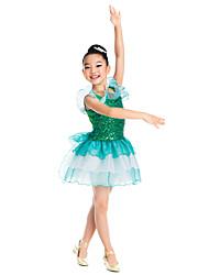 vestido de la danza del ballet hermosa decoración de lentejuelas y organza de la colmena ropa de baile de ballet tutú de los niños