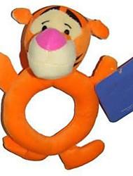 novo bebê forma arredondada tigre laranja chocalhos brinquedos para atividade berço carrinho de bebê brinquedos de pelúcia