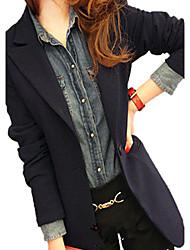 Solid Color Bodycon Suit Blazer