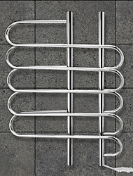 80W Towel Warmer 304# Stainless Steel Mirror Polished Drying Rack Wall Mount