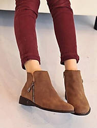 Women's Shoes Round Toe Chunky Heel Ankle Boots