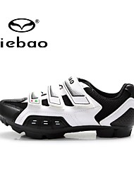 Tiebao Mountain Bike Shoes Cycling Shoes Unisex Anti-Slip Breathable Outdoor Mountain Bike PVC Leather Breathable Mesh Cycling