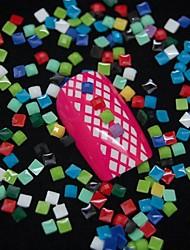 100шт квадрат цветовой гаммы желе алмазов 3d ногтей украшения