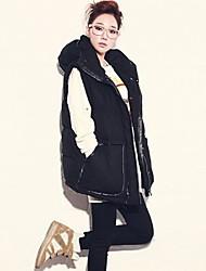 Women's Super Warm Cotton Hooded Vest Brand New Fashion Tops Winter Sleeveless Outerwear