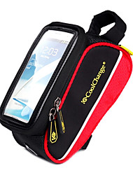 Bolsa para Quadro de Bicicleta / Bolsa Celular (Vermelho , Póliester 600D)Seca Rapidamente / Á Prova-de-Chuva / Prova-de-Pó / Camurça