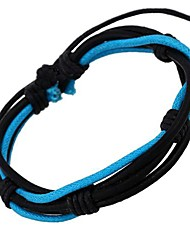 European and American Popular Multicolor Cool Leather Bracelet (Random Color) Christmas Gifts