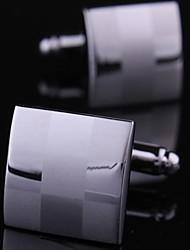 xinclubna® cufflink 1,5 centímetros de moda masculina de cobre silver (prata) (1pair)