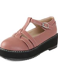 bombea los zapatos mary jane tacón bajo de las mujeres zapatos más colores disponibles