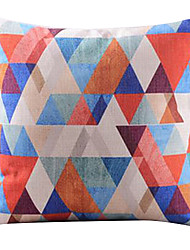 Multi-colored Triangle Mosaic Decorative Pillow Cover