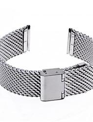 Unisex Thick Mesh Steel Watch Band Strap 110MMx20MMx3MM(Silver)