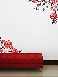 Wall Stickers Wall Decals, Modern Romantic rose PVC Wall Stickers