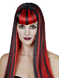 Cosplay Wigs Queen Festival/Holiday Halloween Costumes Red / Blue / Black/White Solid Wig Halloween / Carnival Female