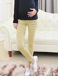 Maternity Fashion Stripes Stretch Legging Prop Belly Pants