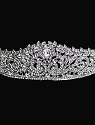 Women's / Flower Girl's Alloy Headpiece-Wedding Tiaras Round