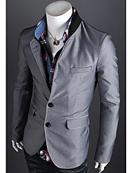 g&y mode contrasterende kleur twee knop pak (grijs, rood, koffie, zwart)