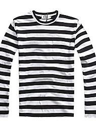 JMEN Stripes Fashion Fitted Cotton Shirt