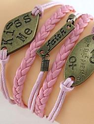 z&kissme moda X® pulseira fé multicamadas tecelagem