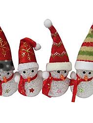Natale pupazzo di neve di cristallo eva cambia colore luce di notte