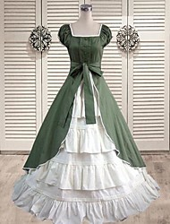 Short Sleeve Floor-length Dark Green Classic Lolita Dress