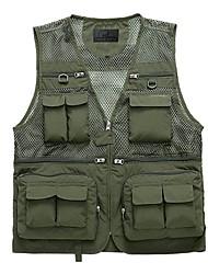 YUFU Muti-porket Gridding Waistcoat Vest for Outdoor Photographer Director [XXL]