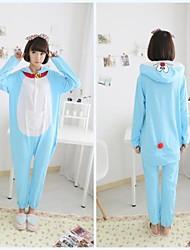 взрослых звон кошка синий хлопок Kigurumi пижамы животных пижамы для весны&осень