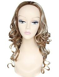 half pruik blonde lange hoge kwaliteit krullend vrouwelijke elegante mode synthetische celebrity pruik