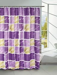 blocco viola tenda della doccia poliestere