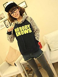 Women's Leopard Letter Print Hoodies Fashion Sweatshirts