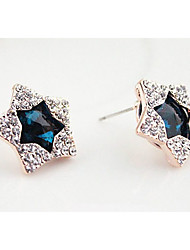 Viva Women's Hot Sell Statement Korean Star Pattern Earrings