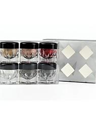 6 Lidschattenpalette Trocken / Matt / Schimmer / Mineral Lidschatten-Palette Puder Normal