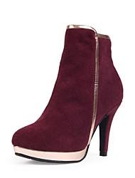 scarpe da donna punta a punta stivali tacco a stiletto in camoscio più colori disponibili