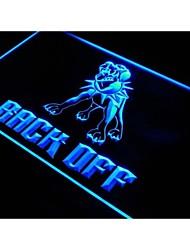 j458 attention au chien reculer bar signe de néon