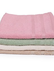 Thouse® Plain Satin Small Squares Hand Towel(2 Pieces In Each Package,100% Cotton,25*30cm)