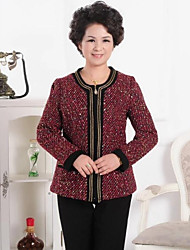 Skymoto®Women's O-neck Chains Sequins Elegant Coat