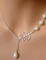 vendimia cuatro collar de perlas de forma de la hoja colgante shixin® (1 unidad)