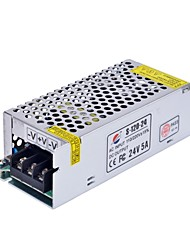 Xinyuanyang® S-120-24 24V5A Power Supply Transformer for LED Light Bulb - Silver (AC 110-220V)