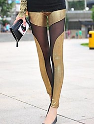 Women's Fashion Sexy Pu Lace Legging