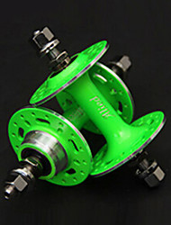 Alied 32 Holes Fluorescent Green Bearing Fixed Gear Front and Rear Hub